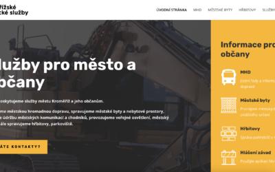 Nový web společnosti